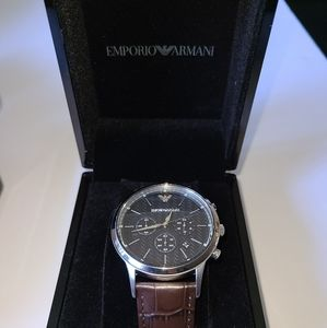 Emporio Armani Croc Embossed Band Watch NWT
